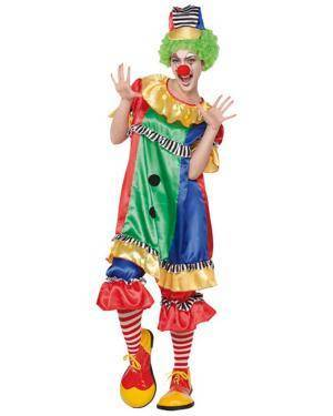 Fato Palhaço Mulher Adulto Disfarces A Casa do Carnaval.pt