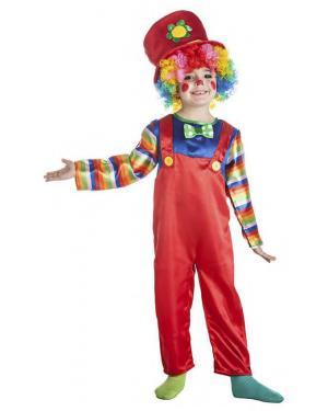 Fato Palhaço Multicor 3-4 Anos para Carnaval