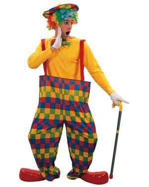 Fato Palhaço com Suspensórios Homem Adulto Loja de Fatos Carnaval, Disfarces, Artigos para Festas Acessórios de Carnaval Mascaras Perucas 652 acasadocarnaval.pt
