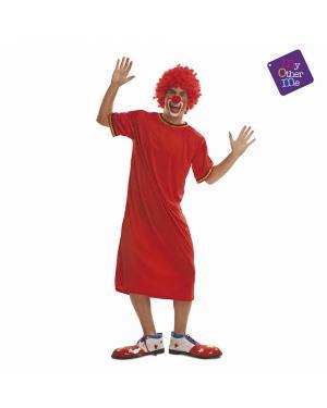 Fato Palhaço Vermelho M/L para Carnaval