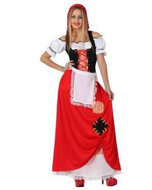 Fato Pastora Vermelha Adulto Disfarces A Casa do Carnaval.pt
