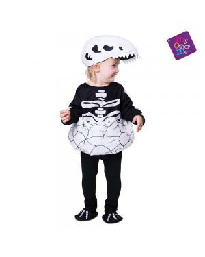 Fato Pequeno Dino Esqueleto para Carnaval