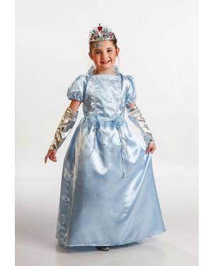 Fato Pincesa Azul Criança T. 3 a 5 Anos Disfarces A Casa do Carnaval.pt