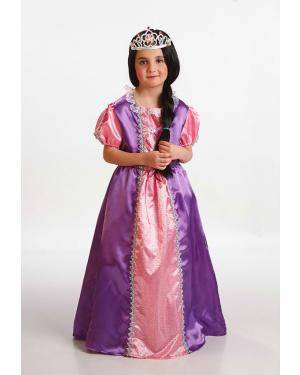 Fato Pincesa Roxa Criança T. 5 a 7 Anos Disfarces A Casa do Carnaval.pt