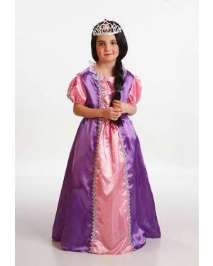 Fato Pincesa Roxa Criança T. 8 a 10 Anos Disfarces A Casa do Carnaval.pt