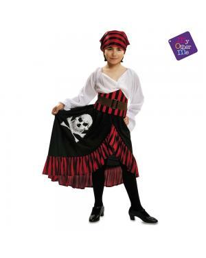 Fato Pirata Bandana Menina para Carnaval