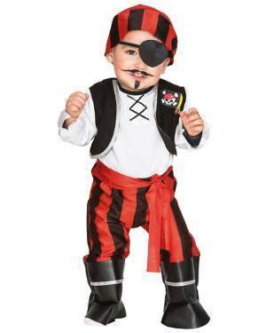 Fato Pirata Bebé de 1-2 anos Disfarces A Casa do Carnaval.pt