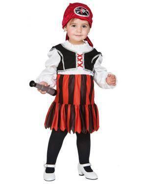 Fato Pirata Bebé Meninas de 1-2 anos Disfarces A Casa do Carnaval.pt