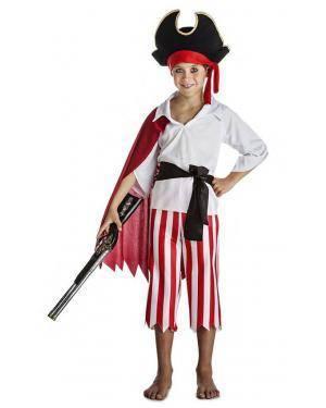 Fato Pirata com Capa 10-12 Anos Disfarces A Casa do Carnaval.pt