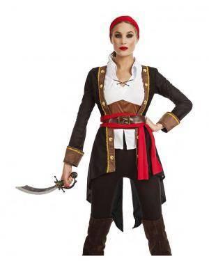 Fato Pirata Capitã Mulher T. M/L Disfarces A Casa do Carnaval.pt