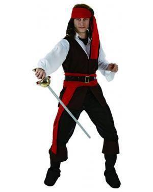Fato Pirata Caribenho Adulto Disfarces A Casa do Carnaval.pt