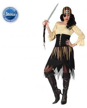 Fato Pirata Castanho Mulher Disfarces A Casa do Carnaval.pt