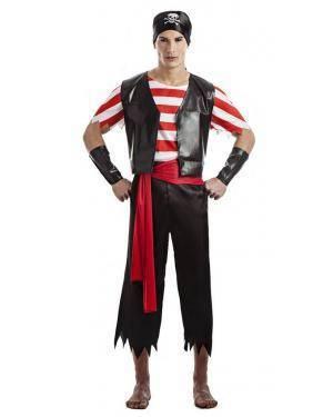 Fato Pirata Caveiras T. M/L Disfarces A Casa do Carnaval.pt