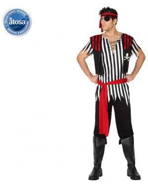 Fato Pirata com Colete Adulto Disfarces A Casa do Carnaval.pt