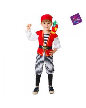 Fato Pirata com Papagaio de Pelucia para Carnaval