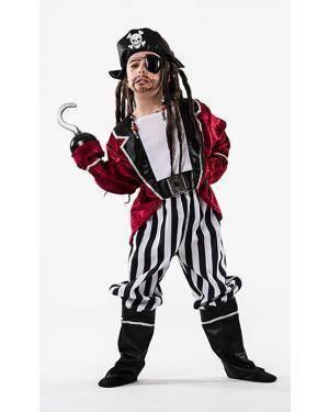 Fato Pirata Criança 8-10 Anos Disfarces A Casa do Carnaval.pt