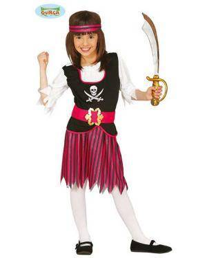 Fato Pirata dos Mares Rosa para Menina Loja de Fatos Carnaval, Disfarces, Artigos para Festas, Acessórios de Carnaval Mascaras Perucas 225 acasadocarnaval.pt
