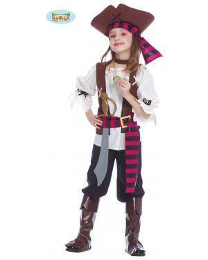 Fato Piratesa de Los Siete Mares Infantil Disfarces A Casa do Carnaval.pt