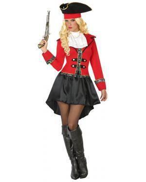 Fato Pirata Elegante Mulher Adulto XS/S Disfarces A Casa do Carnaval.pt