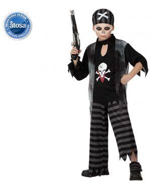 Fato Pirata Fantasma Zombie Menino Disfarces A Casa do Carnaval.pt