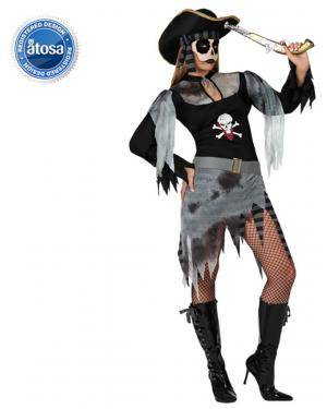 Fato Pirata Fantasma Zombie Sexy Adulto Disfarces A Casa do Carnaval.pt