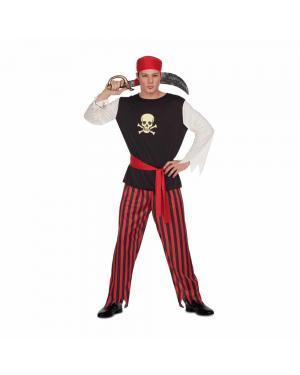 Fato Pirata Homem M/L para Carnaval