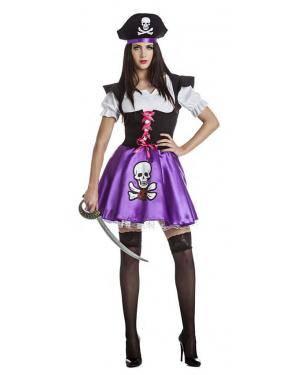Fato Pirata Lila Mulher T. M/L Disfarces A Casa do Carnaval.pt