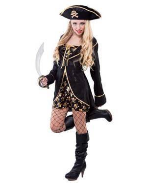 Fato Pirata de Luxe Mulher Adulto Disfarces A Casa do Carnaval.pt