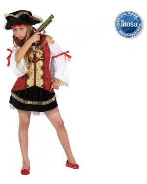 Fato Pirata de Luxo Menina Disfarces A Casa do Carnaval.pt