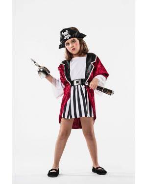 Fato Pirata Menina 3-5 Anos Disfarces A Casa do Carnaval.pt