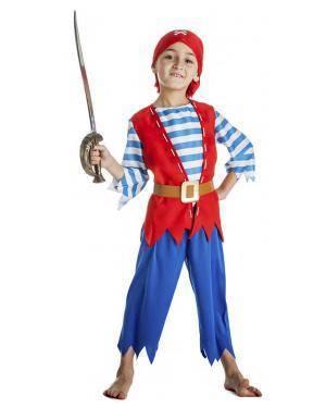 Fato Pirata Menino 5-6 Anos Disfarces A Casa do Carnaval.pt