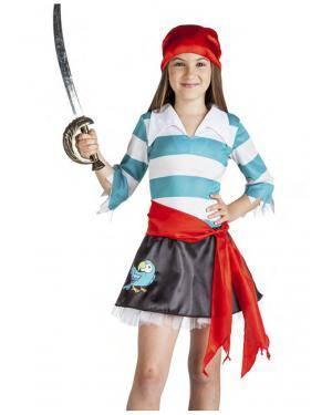 Fato Pirata Papagaio Menina 5-6 Anos Disfarces A Casa do Carnaval.pt