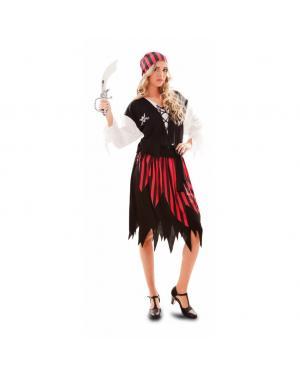 Fato Pirata Riscas Adulto para Carnaval