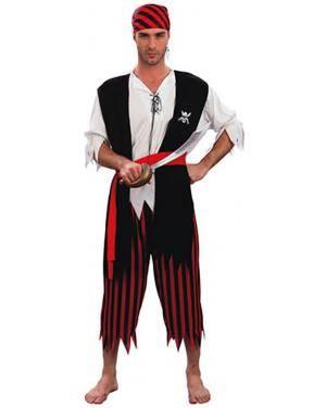 Fato Pirata Riscas Adulto Disfarces A Casa do Carnaval.pt