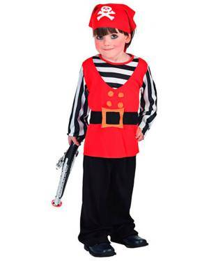 Fato Pirata Riscas Criança Disfarces A Casa do Carnaval.pt