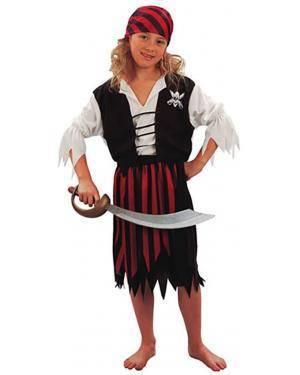 Fato Pirata Riscas Menina Disfarces A Casa do Carnaval.pt