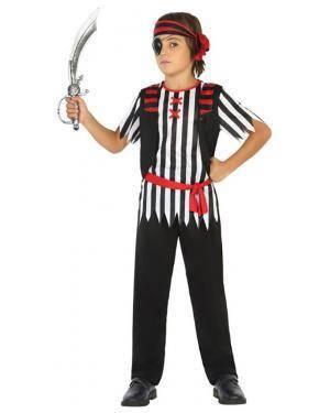 Fato Pirata Riscas Menino de 10-12 anos Disfarces A Casa do Carnaval.pt