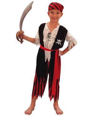 Fato Pirata Riscas Menino Disfarces A Casa do Carnaval.pt