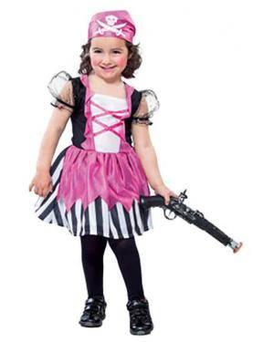 Fato Pirata Rosa Menina Disfarces A Casa do Carnaval.pt