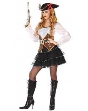 Fato Pirata Sexy Adulto para Carnaval