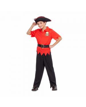 Fato Pirata Vermelho para Carnaval