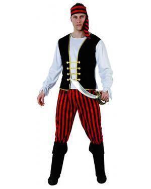 Fato Piratas Riscas Adulto Disfarces A Casa do Carnaval.pt