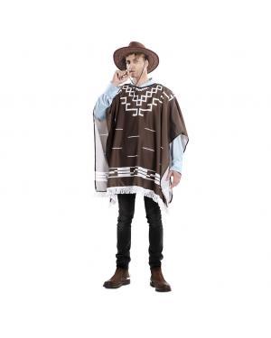 Fato Poncho Cowboy Tamanho M/L para Carnaval