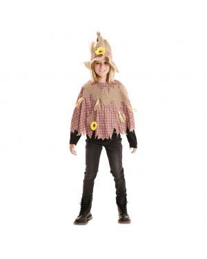 Fato Poncho Espantalho Infantil para Carnaval