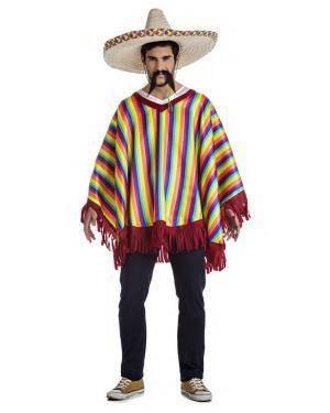 Fato Poncho Mexicano Tamanho S para Carnaval