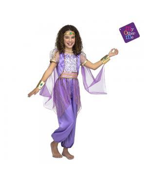 Fato Princesa Árabe Roxo para Carnaval