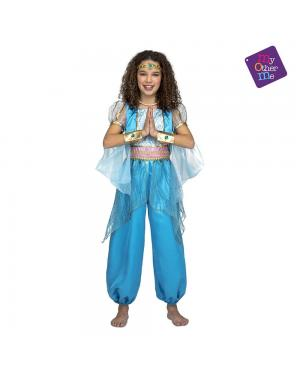 Fato Princesa Árabe Turquesa para Carnaval