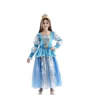 Fato Princesa azul para Carnaval