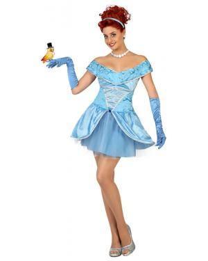 Fato Princesa Azul Sexy Adulto Disfarces A Casa do Carnaval.pt