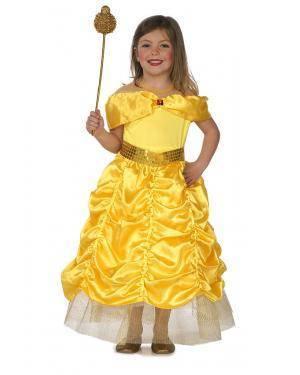 Fato Princesa Bela Criança T. 3 a 5 Anos Disfarces A Casa do Carnaval.pt